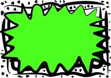 Chaotischer grüner abstrakter Rand stock abbildung