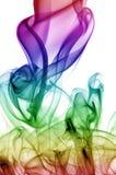 Chaotischer Regenbogen-Rauch Stockfotos