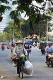 Chaotyczny ruch drogowy w Saigon, Wietnam Fotografia Royalty Free
