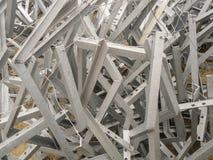 Chaotyczny wiązadło galwanizujący stalowych struktur graniasty profil Zdjęcia Royalty Free