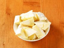 Chaource cheese Stock Images