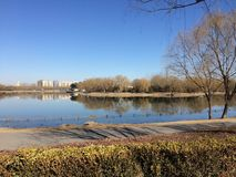 Chaoyang park. Quiet Beijing during the Chinese New Year holidays Stock Photography
