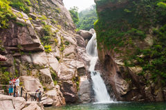 Chaoyin Qingdaos laoshan sault Landschaft in China Stockfoto