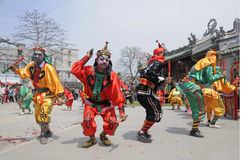 Chaozhou, провинция Гуандун, великобританский танец Стоковое Изображение RF