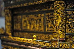 Chaozhou wood sculpture Royalty Free Stock Images