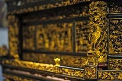 Chaozhou wood skulptur Royaltyfria Bilder