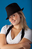 Chapéu adolescente Imagens de Stock