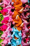 Chapéu animal do projeto colorido, pataya, Tailândia Imagem de Stock Royalty Free