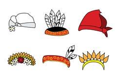 Chapéu asiático tradicional dos pares Imagem de Stock Royalty Free
