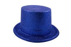 Chapéu azul isolado no branco Imagens de Stock Royalty Free