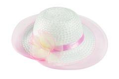Chapéu bonito da mulher do verão fotografia de stock royalty free