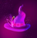 Chapéu brilhante de Dia das Bruxas para o projeto do feriado Fotografia de Stock
