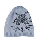 Chapéu cinzento com focinho do gato Imagem de Stock