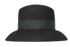 Chapéu clássico de mulheres pretas Fotografia de Stock Royalty Free