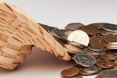 Chapéu com dinheiro Fotografia de Stock Royalty Free