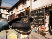 Chapéu croata da polícia do vintage foto de stock