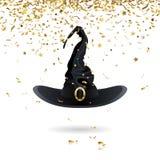 Chapéu da bruxa do carnaval Foto de Stock