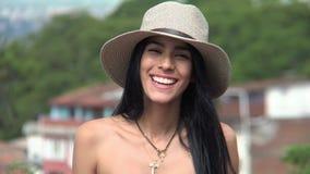 Chapéu de Christian Teen Girl Smiling Wearing fotos de stock
