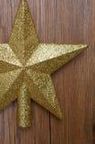 Chapéu de coco da árvore de Natal da estrela do brilho do ouro Foto de Stock Royalty Free