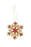 Chapéu de coco da árvore de Natal do floco da neve do ouro Imagem de Stock