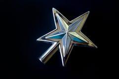 Chapéu de coco de prata da estrela da árvore de Natal Imagens de Stock Royalty Free