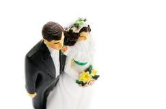 Chapéu de coco do bolo da noiva e do noivo Fotografia de Stock Royalty Free