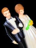 Chapéu de coco do bolo de casamento Fotos de Stock