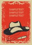 Chapéu de cowboy e charuto Imagem de Stock