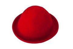 Chapéu de feltro vermelho Foto de Stock