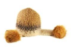 Chapéu de lãs do inverno com pele Foto de Stock Royalty Free
