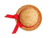 Chapéu de palha bonito no branco Foto de Stock Royalty Free