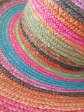Chapéu de palha colorido Fotos de Stock