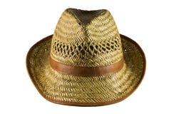Chapéu de palha isolado no branco Imagens de Stock
