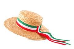 Chapéu de palha italiano fotografia de stock