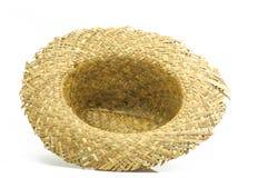 Chapéu de palha no fundo branco Imagens de Stock Royalty Free