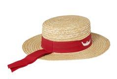 Chapéu de palha tradicional do Gondolier fotografia de stock