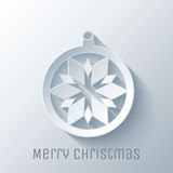 Chapéu de Papai Noel com esferas da árvore Imagens de Stock