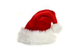 Chapéu de Papai Noel no branco foto de stock