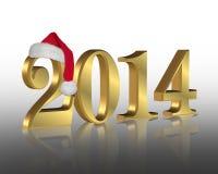 Chapéu de Santa do ano 2014 novo Imagem de Stock Royalty Free