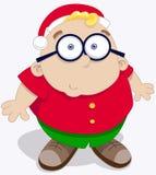 Chapéu de Santa do desgaste do menino Fotos de Stock Royalty Free