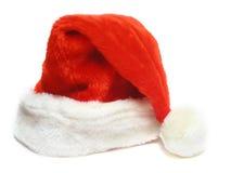 Chapéu de Santa isolado no branco Fotos de Stock Royalty Free