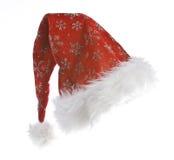 Chapéu de Santa isolado no fundo branco Foto de Stock