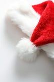 Chapéu de Santa no fundo branco Imagem de Stock Royalty Free