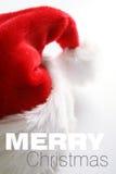 Chapéu de Santa no fundo branco Foto de Stock Royalty Free
