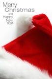Chapéu de Santa no fundo branco Fotos de Stock Royalty Free