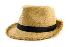 Chapéu de tecelagem isolado no branco Fotos de Stock Royalty Free