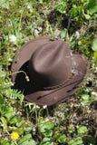 Chapéu de vaqueiro na grama Foto de Stock Royalty Free