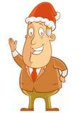 Chapéu desgastando de Santa Imagem de Stock Royalty Free