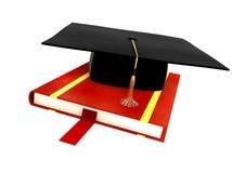 Chapéu do estudante isolado no branco Imagem de Stock Royalty Free