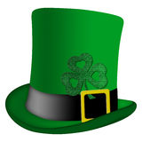 Chapéu do Irish do Leprechaun do dia do St Patricks Fotografia de Stock Royalty Free